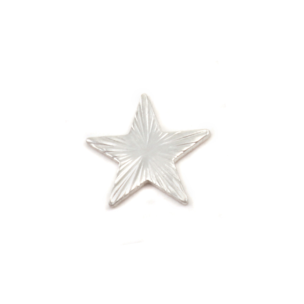 Charms & Solderable Accents Sterling Silver Art Nouveau Star Solderable Accent, 24g - Pack of 5
