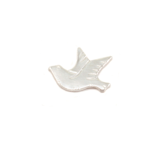 Charms & Solderable Accents Sterling Silver Dove Left Facing Solderable Accent, 24g - Pack of 5