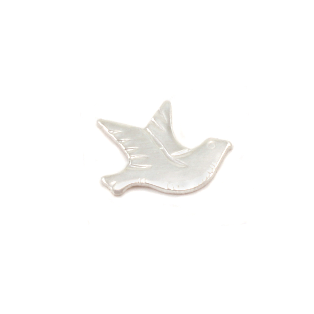 Charms & Solderable Accents Sterling Silver Dove Right Facing Solderable Accent, 24g - Pack of 5