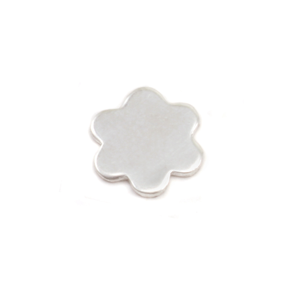 Charms & Solderable Accents Sterling Silver Mini Flower w/ 6 Petals Solderable Accent , 24g - Pack of 5