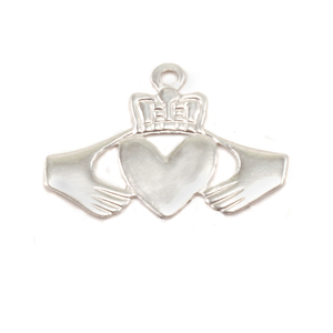 Charms & Solderable Accents Sterling Silver Claddagh Solderable Accent, 28g - Pack of 5