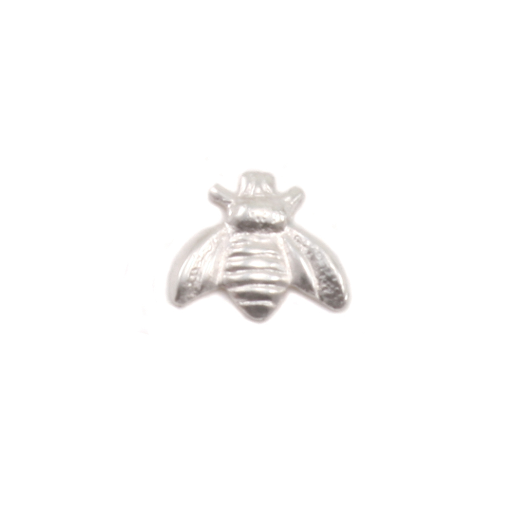 "Charms & Solderable Accents Sterling Silver Bumble Bee Solderable Accent, 6.3mm (.24"") x 5.5mm (.21""), 26g - Pack of 5"