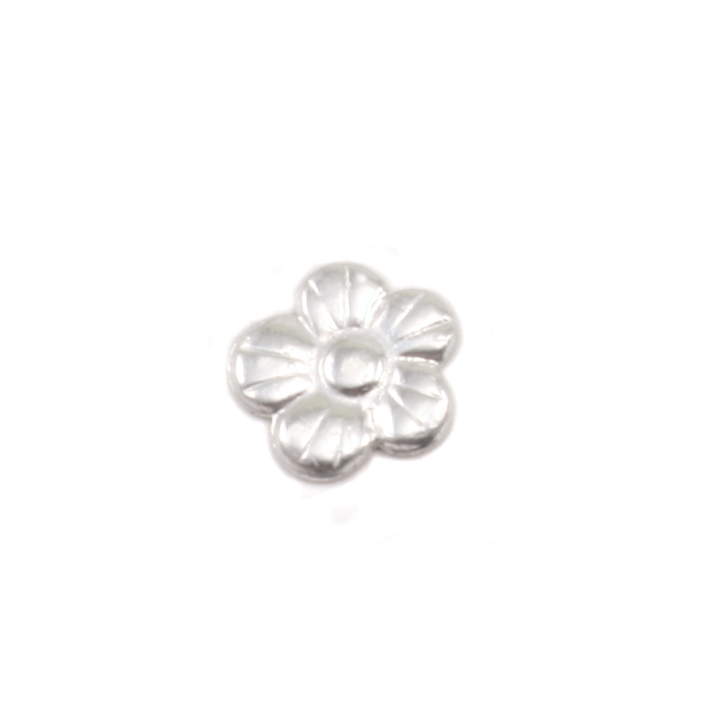 "Charms & Solderable Accents Sterling Silver Pansy Solderable Accent, 6mm (.23""), 26g - Pack of 5"