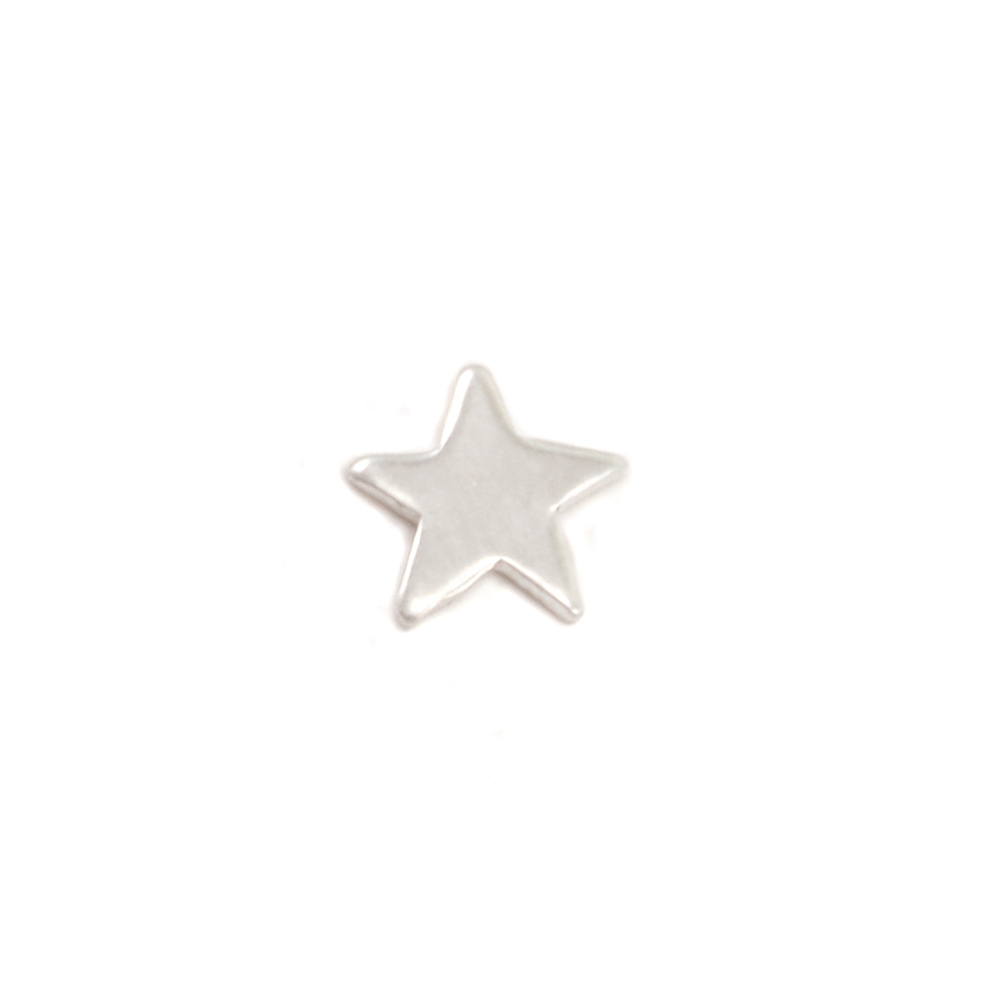 "Charms & Solderable Accents Sterling Silver Star Solderable Accent, 5.2mm (.20""), 24 Gauge - Pack of 5"