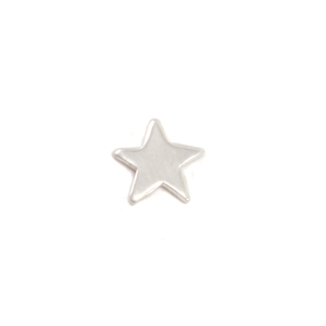 "Charms & Solderable Accents Sterling Silver Mini Star Solderable  Accent, 5.2mm (.20""), 24g - Pack of 5"
