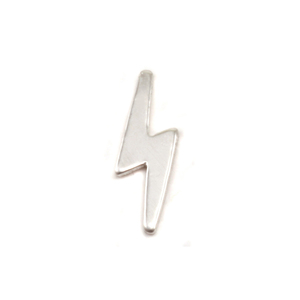 "Charms & Solderable Accents  Sterling Silver Lightning Solderable Accent, 11.2mm (.44"") x 3.5mm (.14""), 24g - Pack of 5"