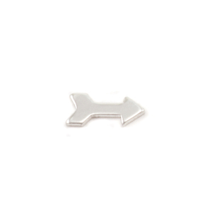 "Charms & Solderable Accents Sterling Silver Arrow Solderable Accent, 6.9mm (.27"") x 3mm (.11""), 24g  - Pack of 5"