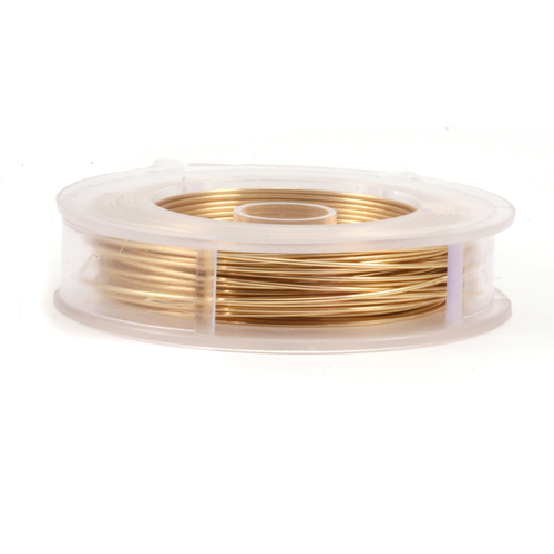 Wire & Metal Tubing Artistic Wire, Non Tarnish Brass 60ft, 24g