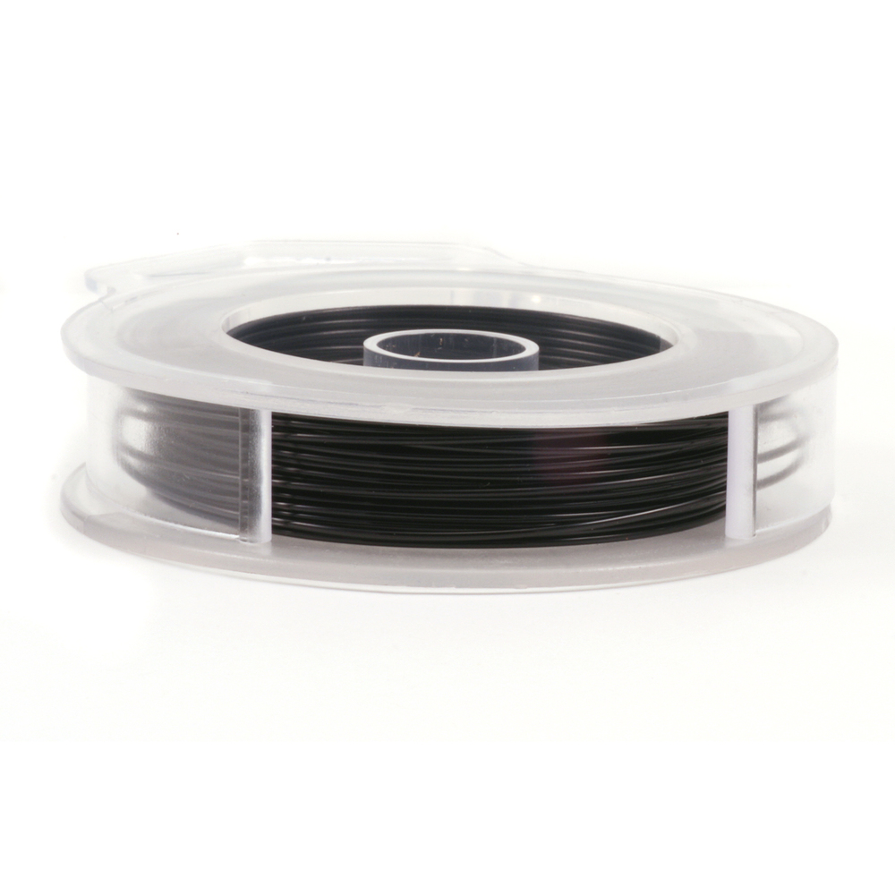 Wire & Sheet Metal Artistic Wire, Black 60ft, 24g