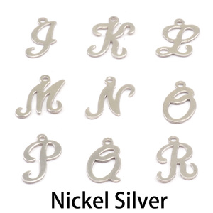 Charms & Solderable Accents Nickel Script Letter Charm L, 24g