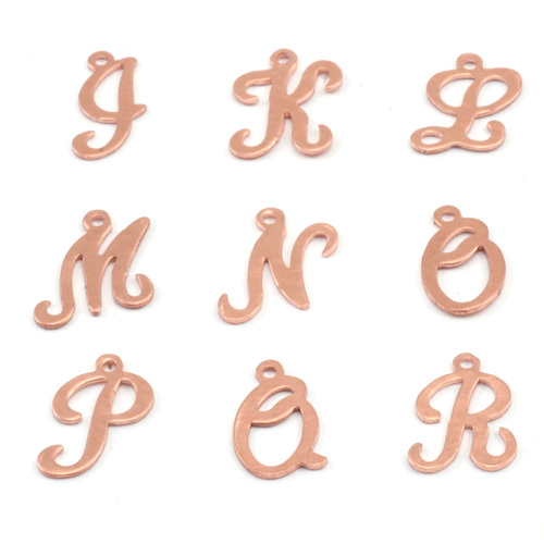 Charms & Solderable Accents Copper Script Letter Charm N, 24g