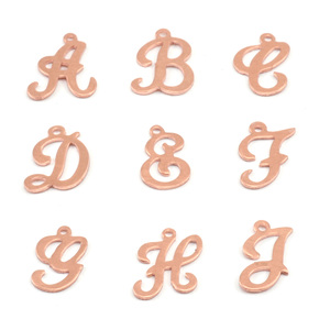 Charms & Solderable Accents Copper Script Letter Charm H, 24g