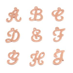 Charms & Solderable Accents Copper Script Letter Charm D, 24g