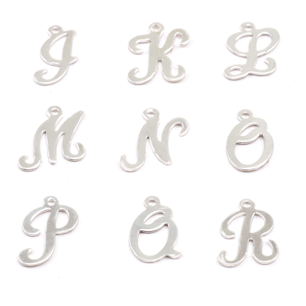 Charms & Solderable Accents Sterling Silver Script Letter Charm L, 24g