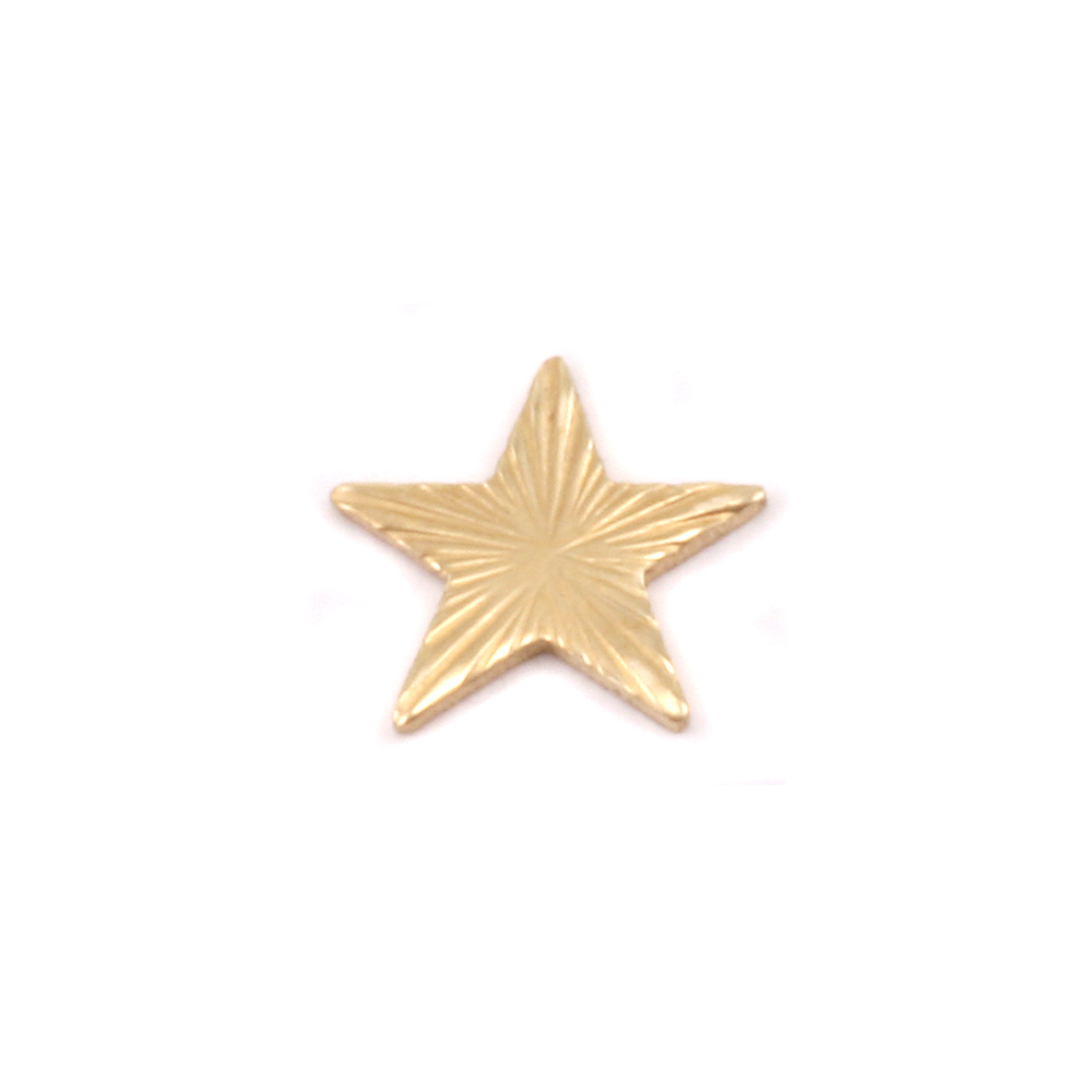 "Charms & Solderable Accents Brass Art Nouveau Star Solderable Accent, 7.5mm (.30""), 24g - Pack of 5"