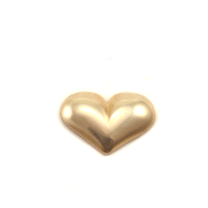 "Charms & Solderable Accents Brass Puffy Heart Solderable Accent, 9.1mm (.36"") x 6.4mm (.25""), 24g - Pack of 5"