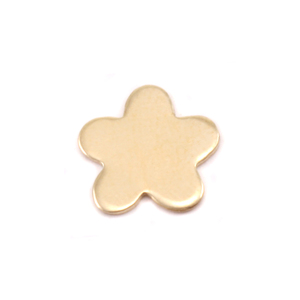 "Charms & Solderable Accents Brass Mini Flower with 5 Petals Solderable Accent, 8.7mm (.34""), 24g - Pack of 5"