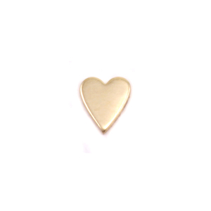 "Charms & Solderable Accents Brass Skinny Heart Solderable Accent, 5.4mm (.21"") x 4.5mm (.18""), 24g - Pack of 5"