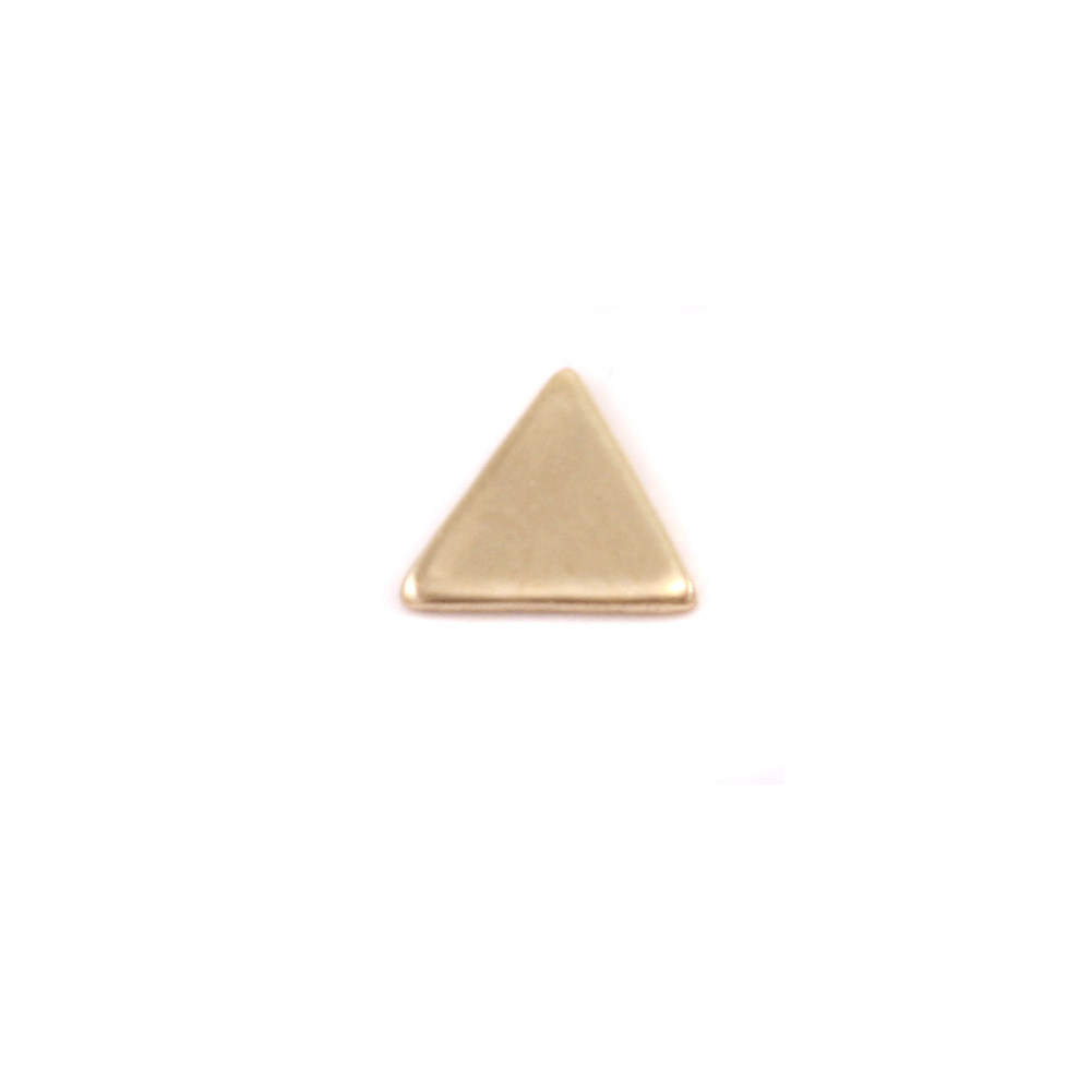"Charms & Solderable Accents Brass Mini Triangle Solderable Accent, 4.8mm (.18"") x 5.4mm (.21""), 24g - Pack of 5"
