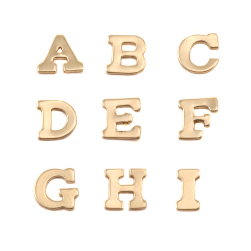 Charms & Solderable Accents Brass Letters A