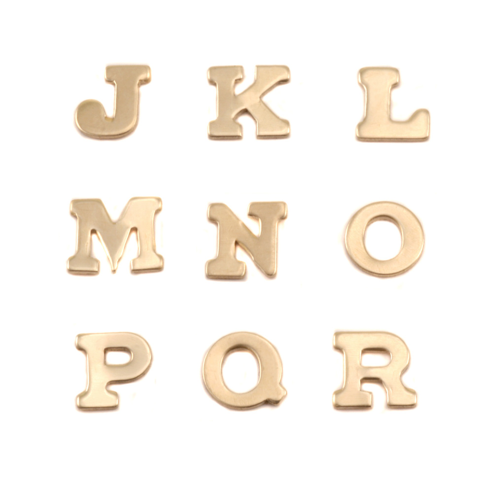 Charms & Solderable Accents Brass Letters J