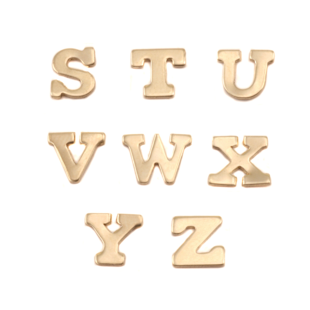 Charms & Solderable Accents Brass Letters W