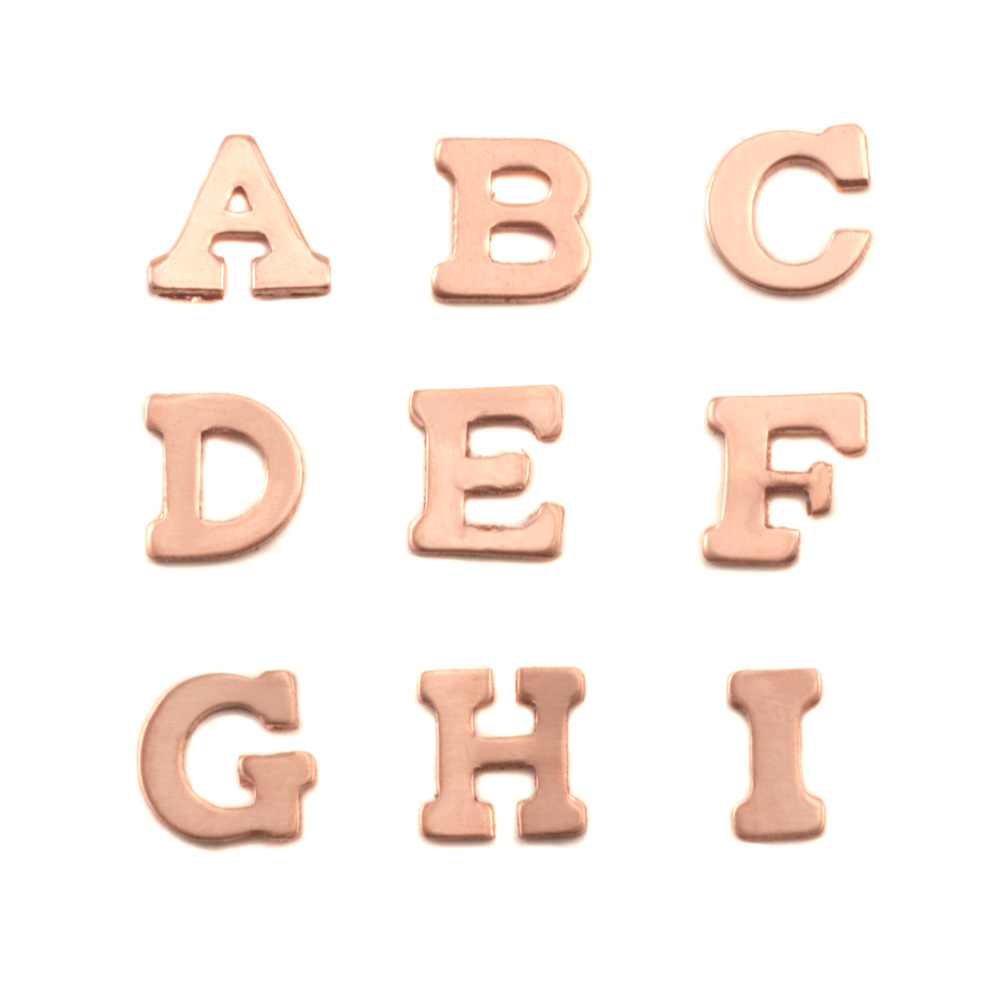 Charms & Solderable Accents Copper Letters A