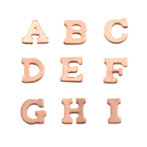 Charms & Solderable Accents Copper Letters F