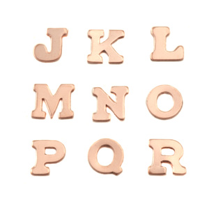 Charms & Solderable Accents Copper Letters J