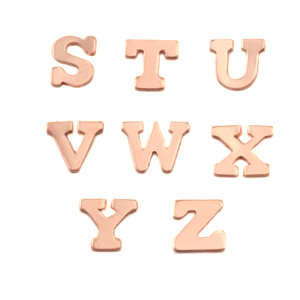 Charms & Solderable Accents Copper Letters V
