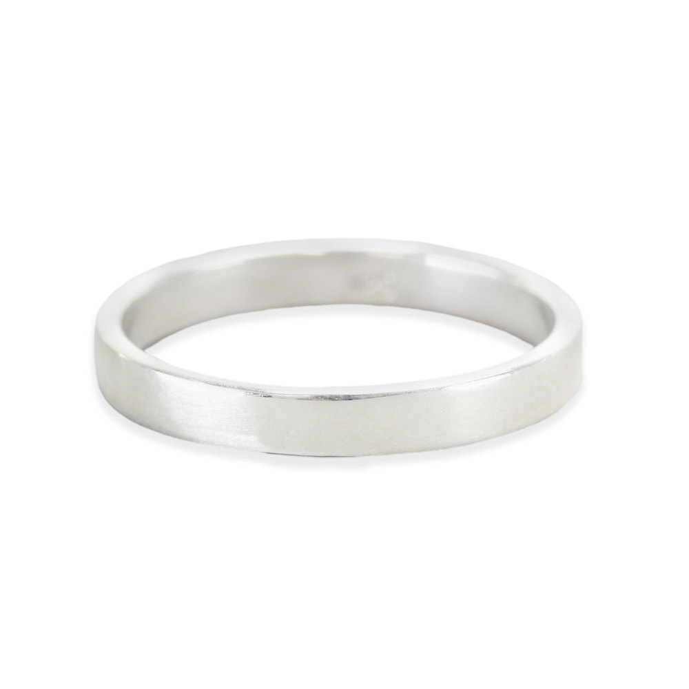 Metal Stamping Blanks Sterling Silver Ring Stamping Blank, 3mm Wide, SIZE 8, *PLEASE READ PRODUCT NOTE
