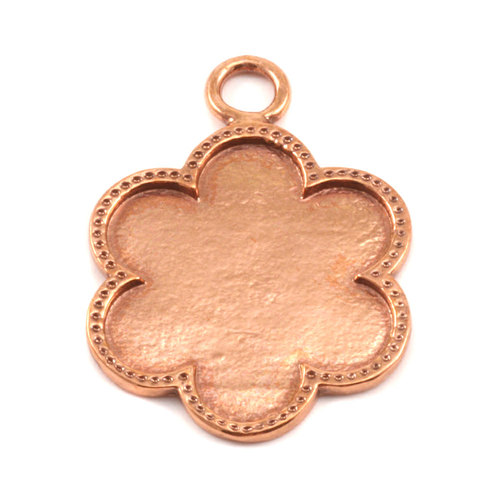 Closeout Copper Flower with Dotted Edge