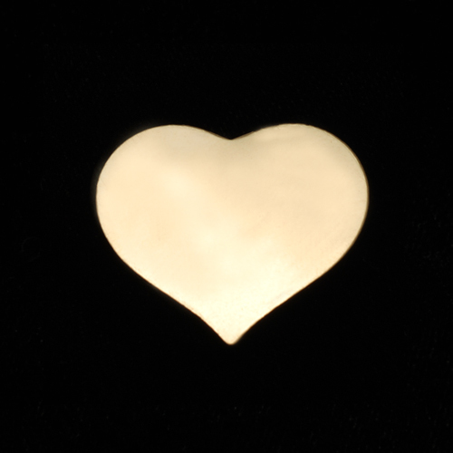 Metal Stamping Blanks Gold Filled Medium Puffy Heart, 24g