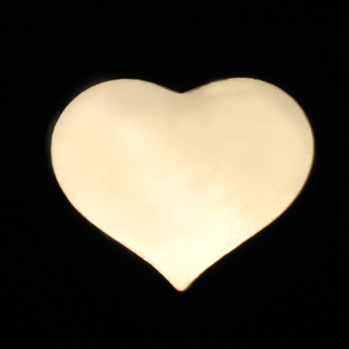 Metal Stamping Blanks Gold Filled Large Puffy Heart, 24g