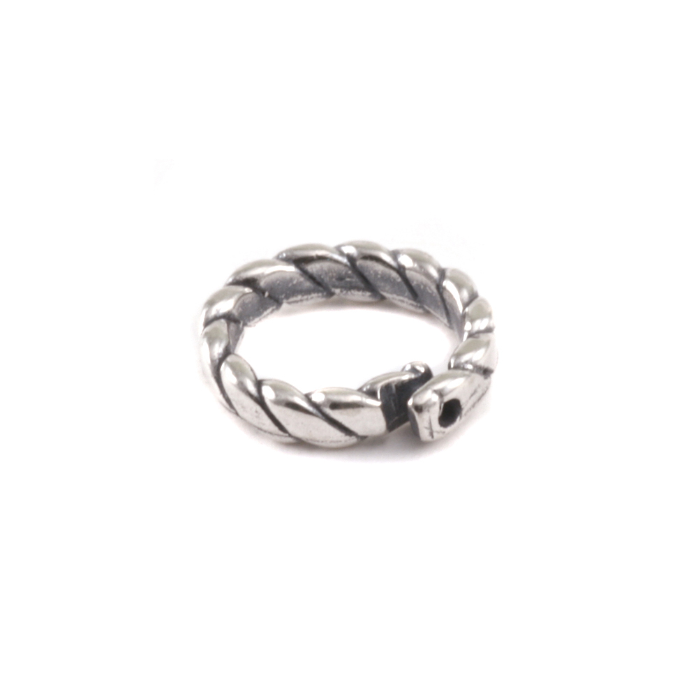 Jump Rings Sterling Silver 6mm I.D. Braided Locking Ring, Pack of 5