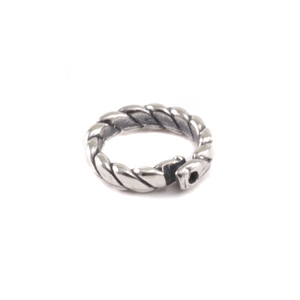 Jump Rings Sterling Silver Braided Locking Ring, Pk of 5