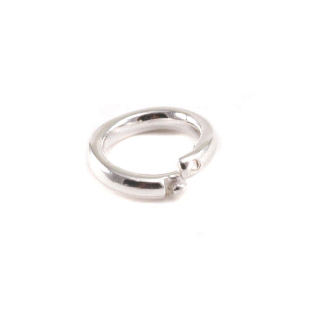 Jump Rings Sterling Silver 6mm I.D. Locking Ring, Pack of 5