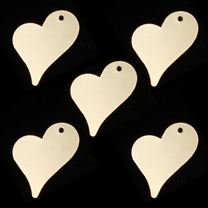 Metal Stamping Blanks Gold Filled Stylized Heart Tag, 28g
