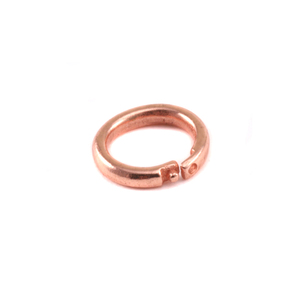 Jump Rings Copper 6mm I.D. Locking Ring, Pack of 5