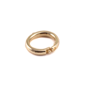 Jump Rings Brass Locking  Ring,  Pk of 5