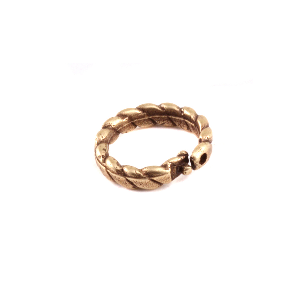 Jump Rings Brass 6mm I.D. Braided Locking Ring, Pack of 5