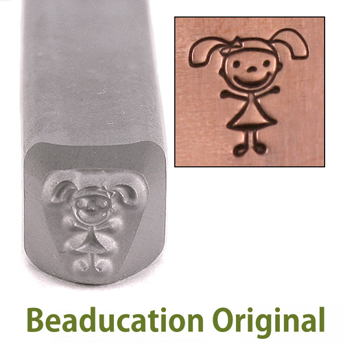 Metal Stamping Tools Daughter Stick Figure Metal Design Stamp- Beaducation Original