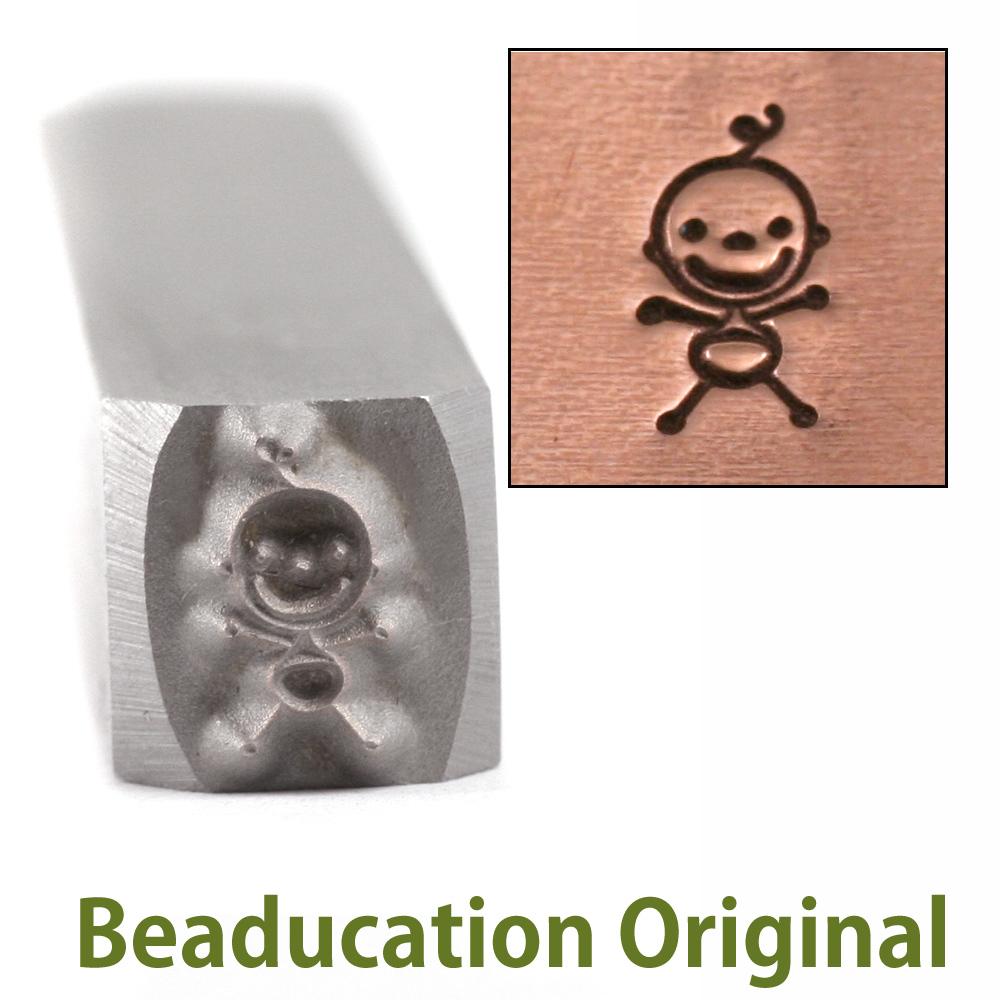 Metal Stamping Tools Baby Stick Figure Design Stamp- Beaducation Original