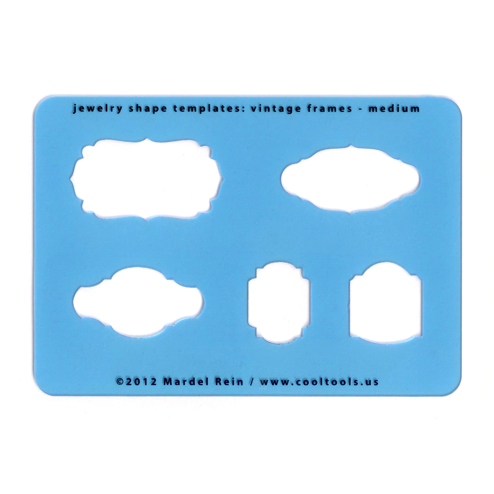 Jewelry Making Tools Vintage Frames - Medium Template or Stencil
