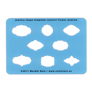 Jewelry Making Tools Eastern Frames - Medium Template or Stencil