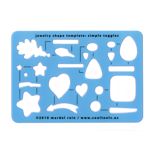 Jewelry Making Tools Simple Toggles - Template or Stencil