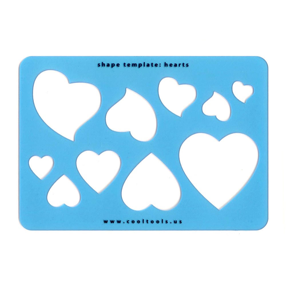 Jewelry Making Tools Hearts - Template or Stencil