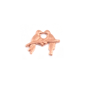 Charms & Solderable Accents Copper Love Birds Solderable Accent, 24g