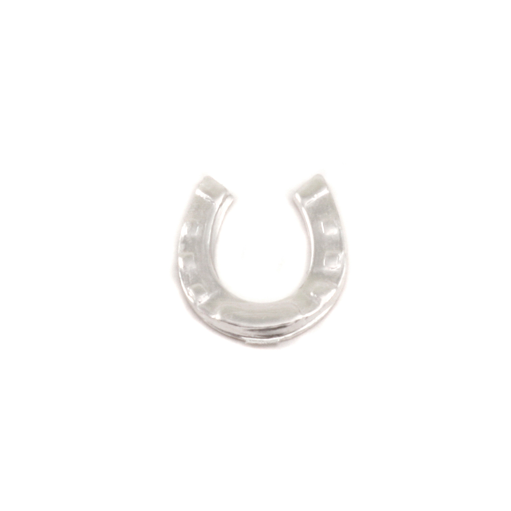 "Charms & Solderable Accents Sterling Silver Horseshoe Solderable Accent, 10mm (.39"") x  8.8mm (.34""), 24g - Pack of 5"