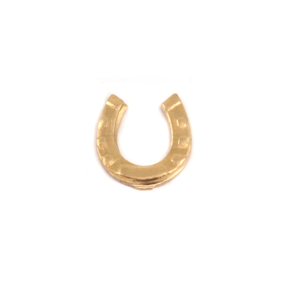 Charms & Solderable Accents Brass Horseshoe Solderable Accent, 24g - Pack of 5